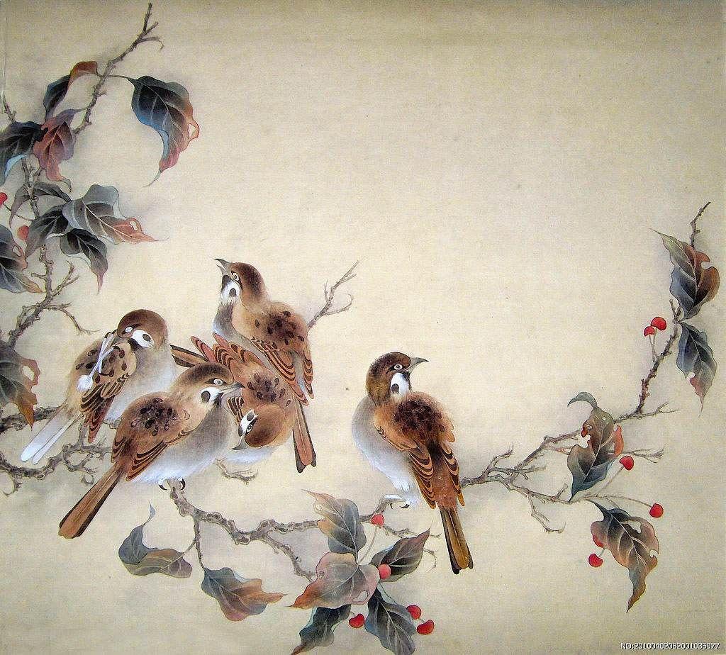прошу японские китайские птицы картинки меана