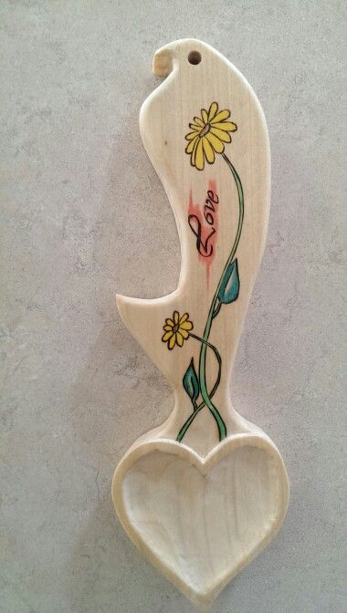 Celtic love spoon, pine, love and growth