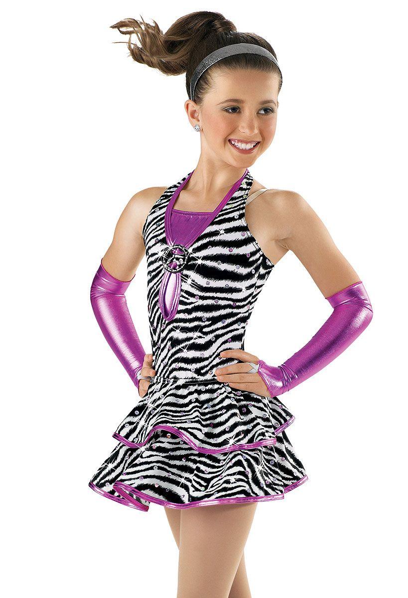 Metallic and Zebra Print Leotard; Weissman Costume | lion king ...