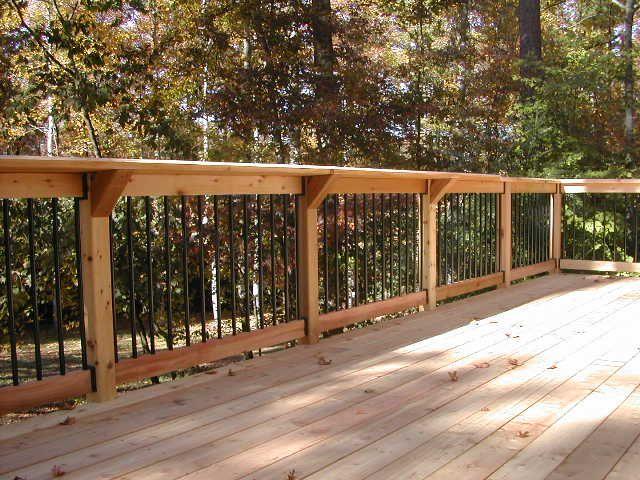 Bar top along back edge of back deck | Barandas balcones ...