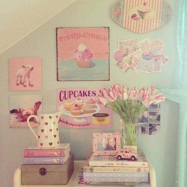 Déco Girly! Girly Pinterest Girly, Chambre cupcake et Chambres