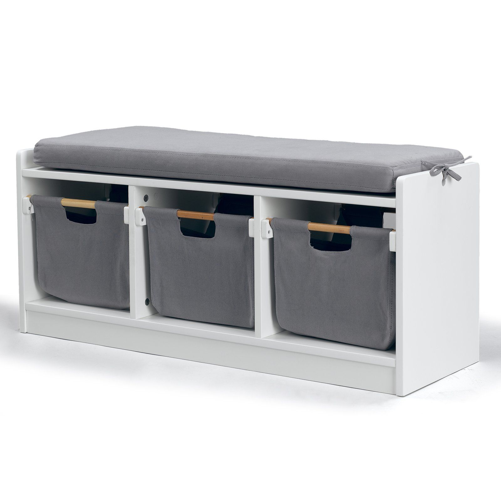 Great WonkaWoo Deluxe Childrens Storage Bench With Optional Cushion   White |  From Hayneedle.com