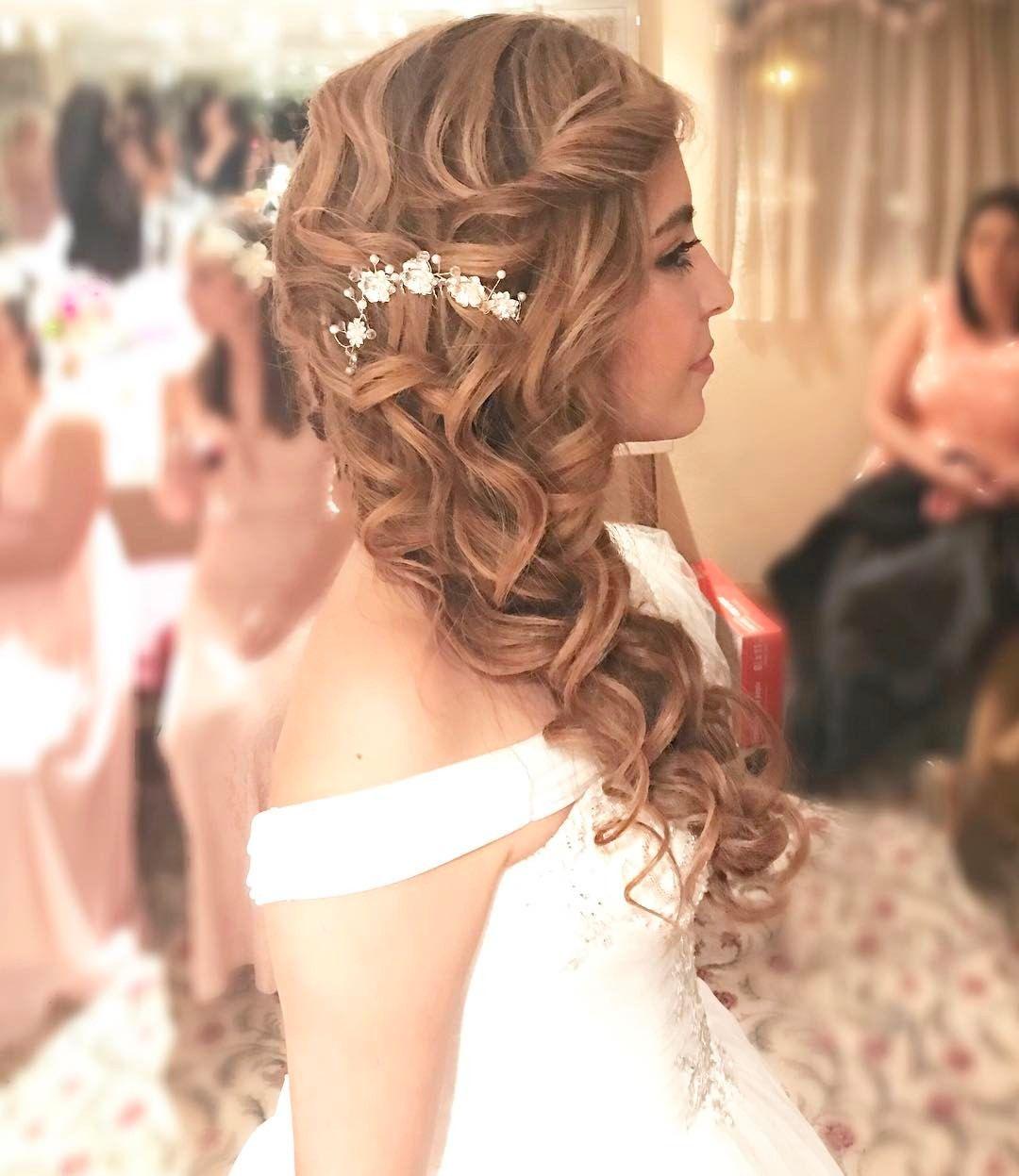 bridal hair prom hair side swept hair mermaid braid