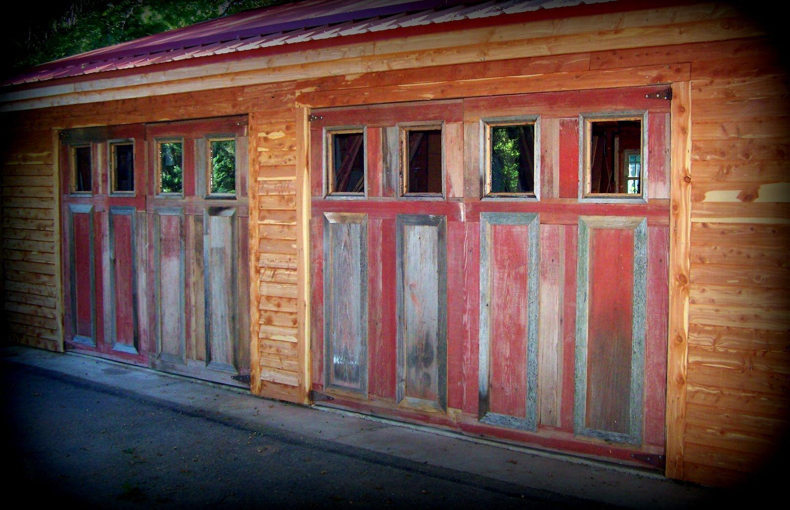 Wilson Creek Furniture-Our barn wood siding! Garage Doors ...