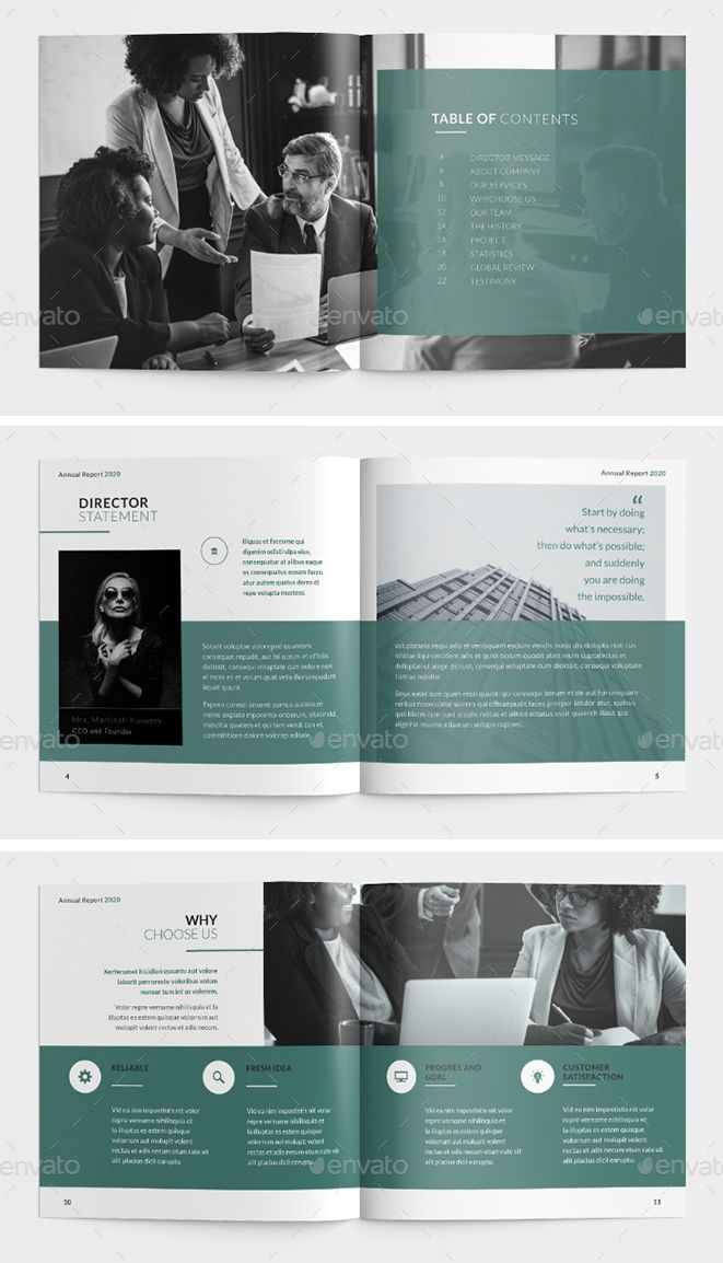 Annual Report Square Brochure Template InDesign INDD. 24 Pages. Download #annualreports
