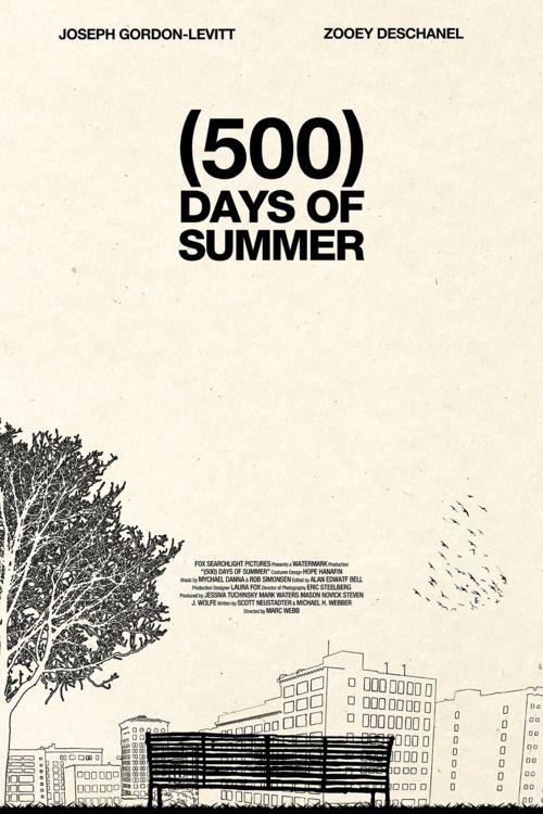 500 Days Of Summer 500 Días De Verano Poster De Peliculas Peliculas