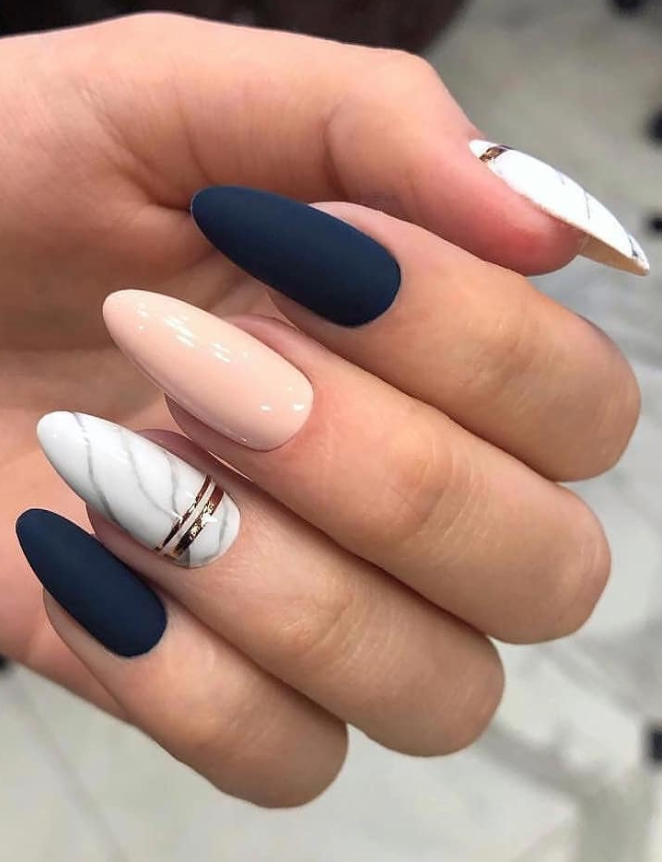 54 Perfect Short Acrylic Almond Nails Design For This Summer Page 28 Of 54 Latest Fashion Trends For Woman Almond Acrylic Nails Almond Nails Designs Pretty Acrylic Nails