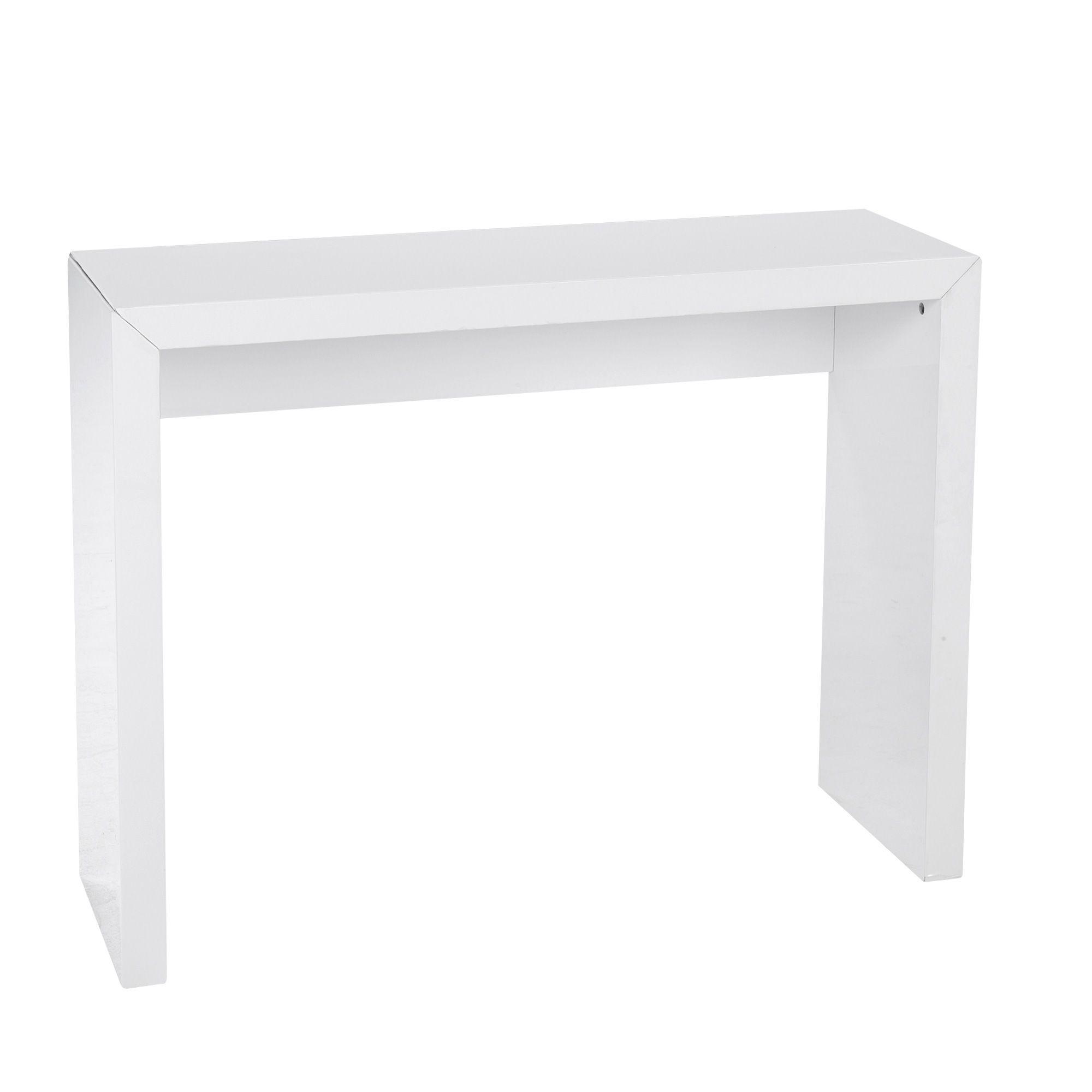console blanche laqu e blanc nora les consoles consoles et tables d 39 appoint salon et. Black Bedroom Furniture Sets. Home Design Ideas