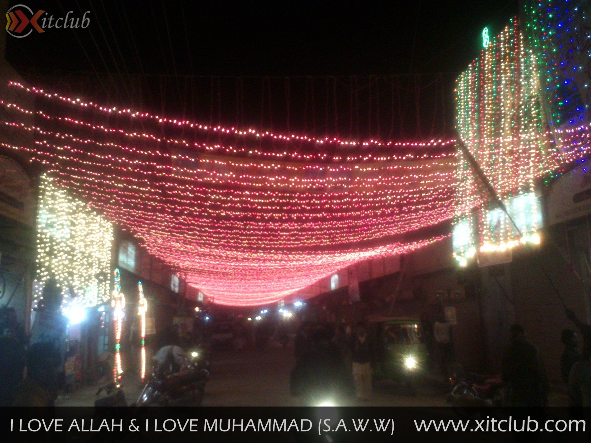 Light decorations on rabi ul awal my photography for 12 rabi ul awal 2014 decoration