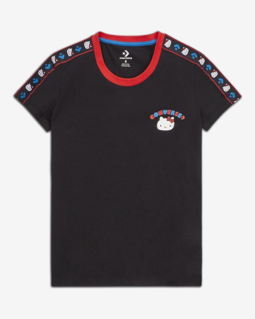 faf58ea8a Converse x Hello Kitty Women's Tape T-Shirt | Sanrio Clothes | Mens ...