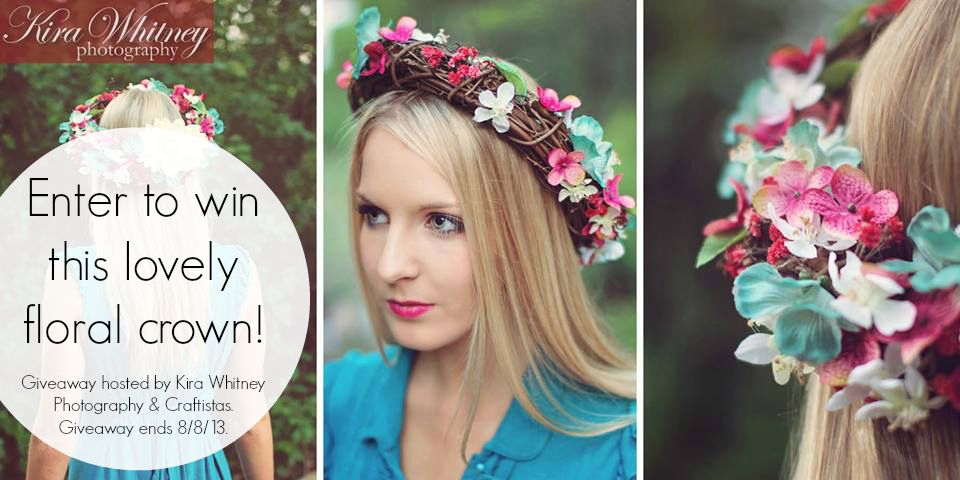 Enter to win this lovely floral crown!! Our friend, Kira, made it for a photoshoot, and now we are giving it away to one of YOU! Giveaway ends 8/8/13.