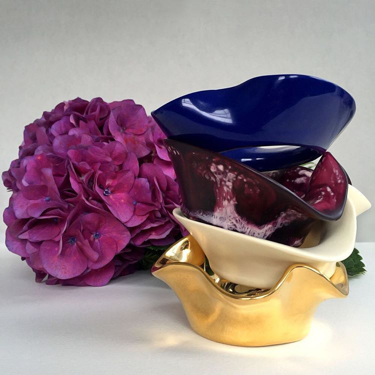 Orchid Flower Bangles #dinosaurdesigns #valentinesday #design #louiseolsen #bangles #jewellery #gifts #flowers