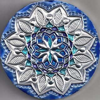Art And Creative Expression Realize Mandalas Aluminium Embossed And Painted Repujado Estampado De Metales Estaño Arte Lámina