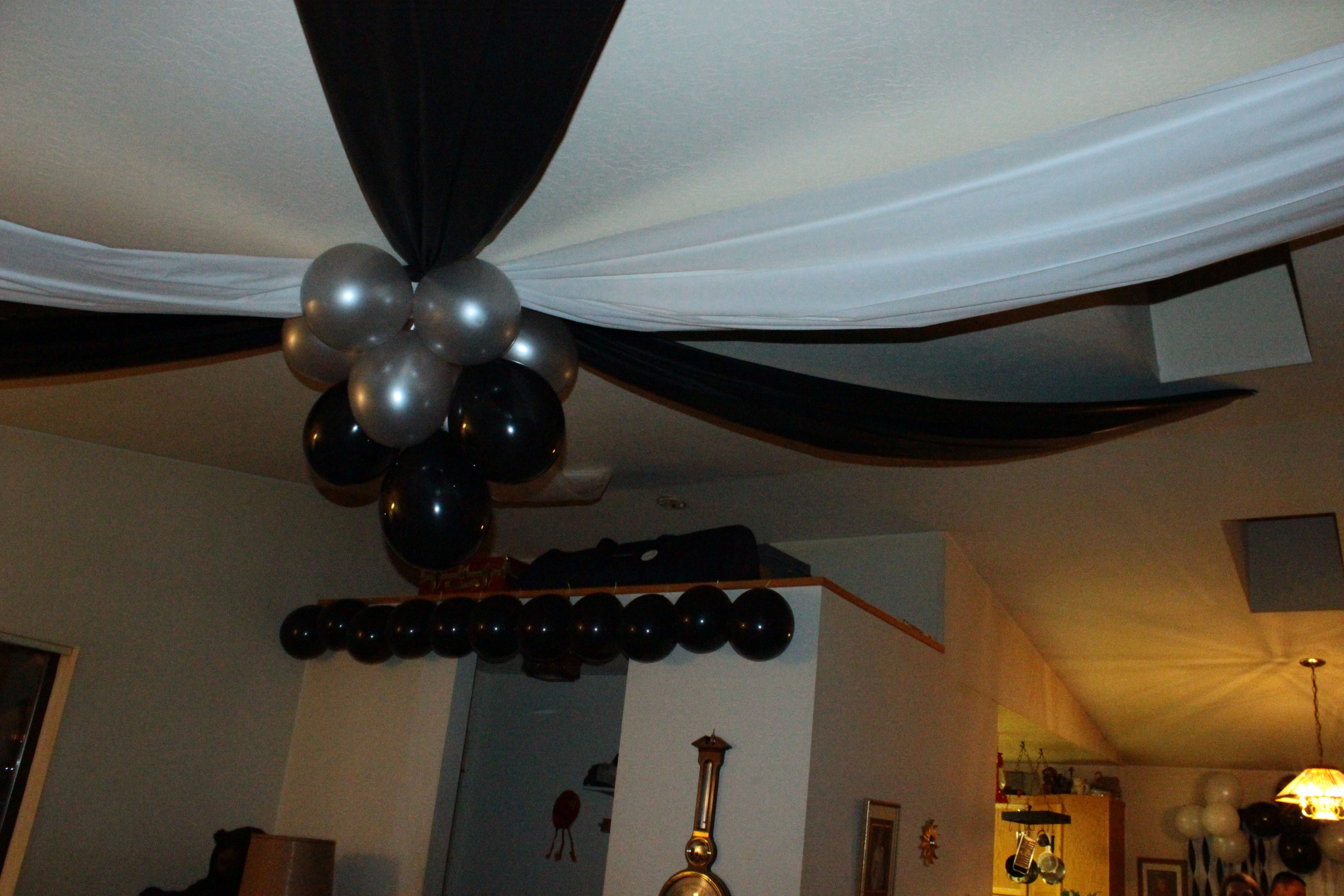 21st Birthday Party Decorations Black And White