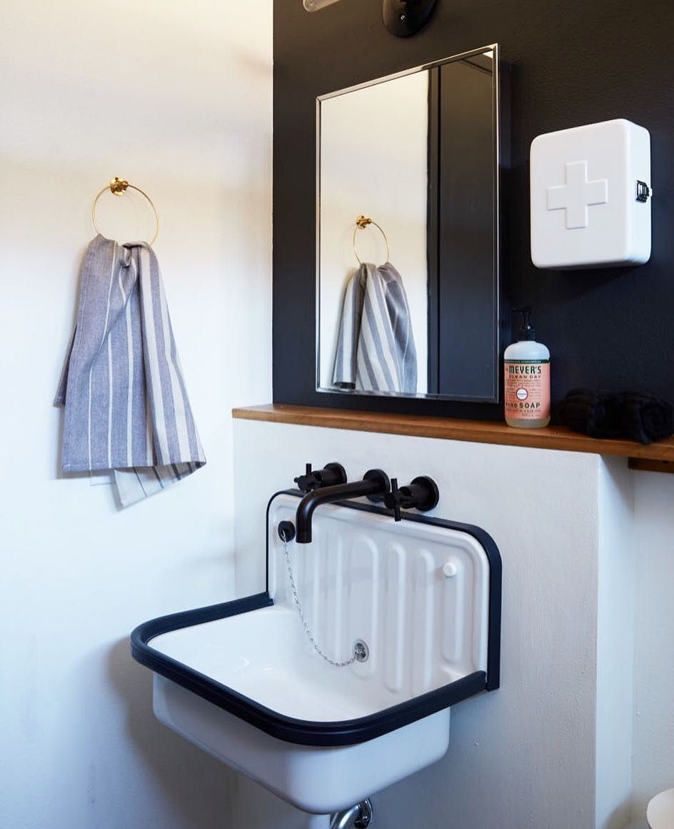Our Alape Sink spotted in the bathroom of this 1958 homesteader ...