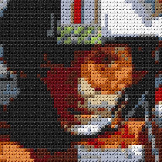 Luke Skywalker In X Wing Lego Mosaic 15 By