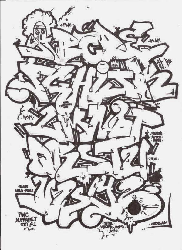 The-beauty-3D-Graffiti-Letters-A-Z-Black-White.jpg (600 ...