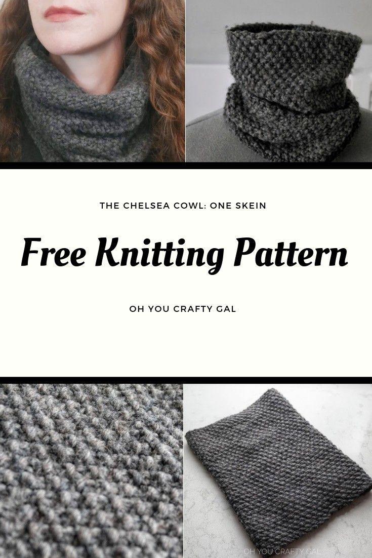 Chelsea Chunky Cowl Free Knitting Pattern   Cowl knitting ...