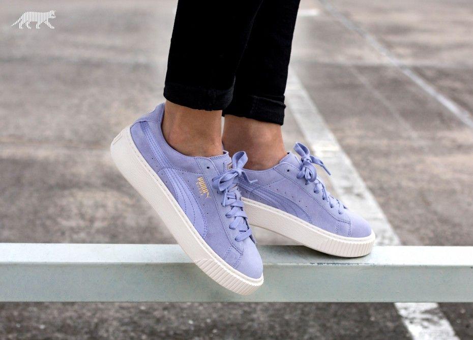 puma platform lavender