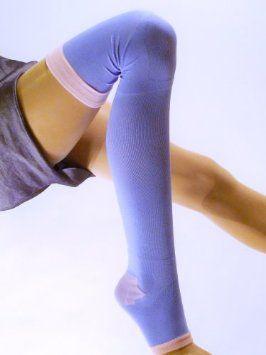 3d923c760 Amazon.com  Lace Poet Purple Yoga Sleep Thigh-High Compression Toeless Socks   Everything Else