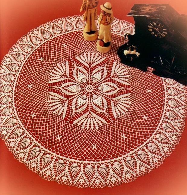 Crochet Lace Tablecloth Centerpiece - Free Pattern (Crochet Art ...