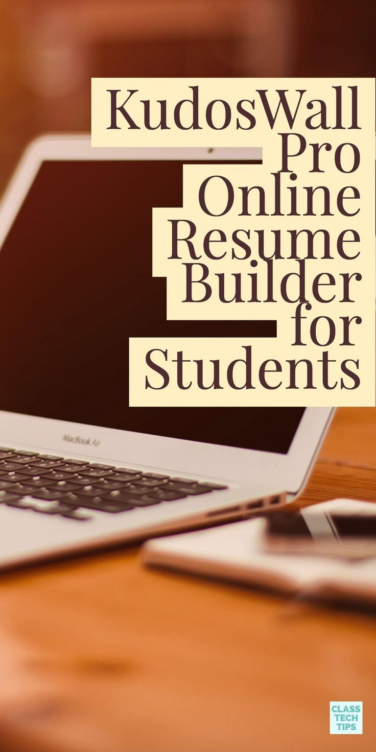 Kudoswall pro online resume builder for students class