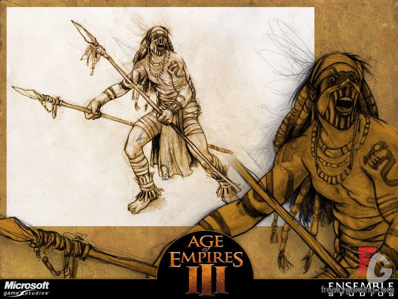 native spearman from age of empires 3