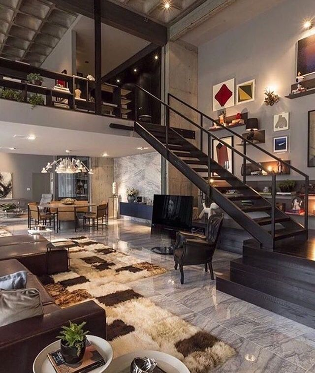 modern house interiors%0A CasaDesign Interiors did an incredible job designing Loft    located in  Praia Brava  Brazil  A modern industrial open concept layout with a cozy  touch