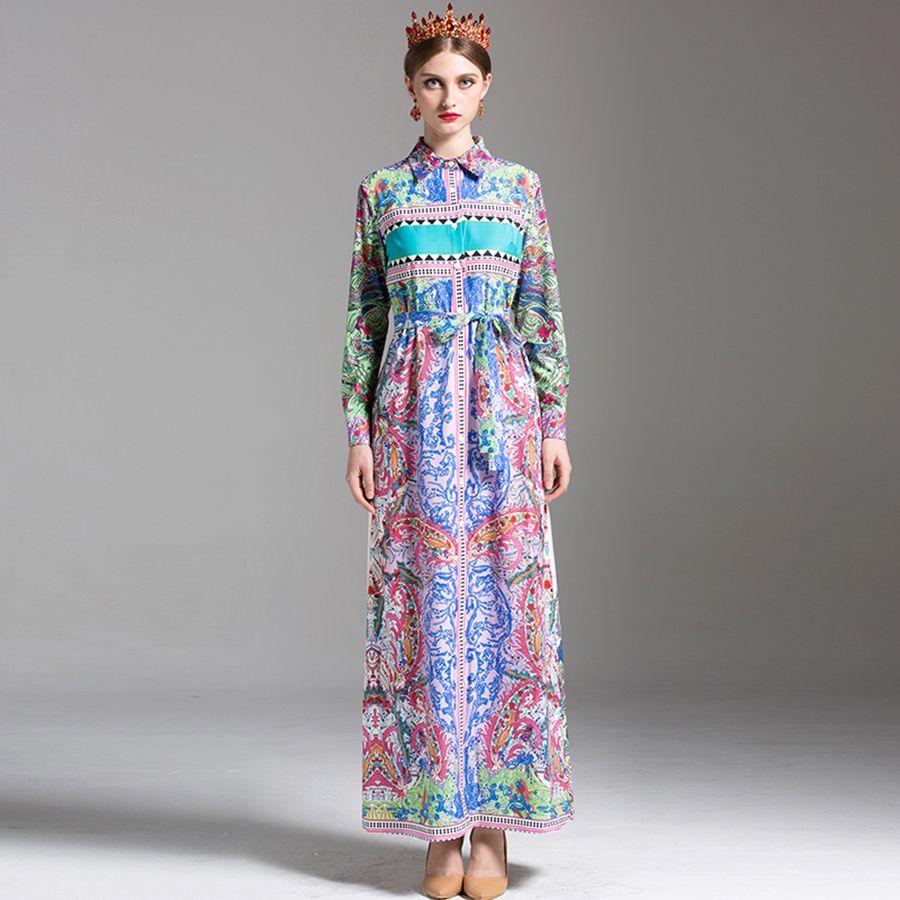 Click to buy ucuc long dresses women summer fashion full lantern