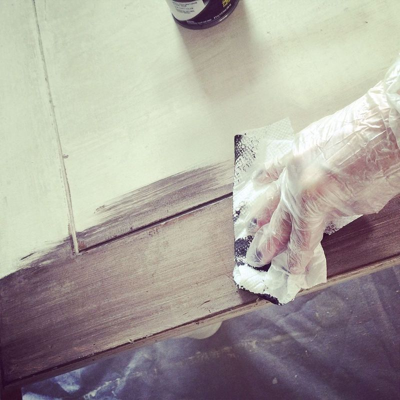 This Dry Brush Technique will Add Age to New Wood  Furniture