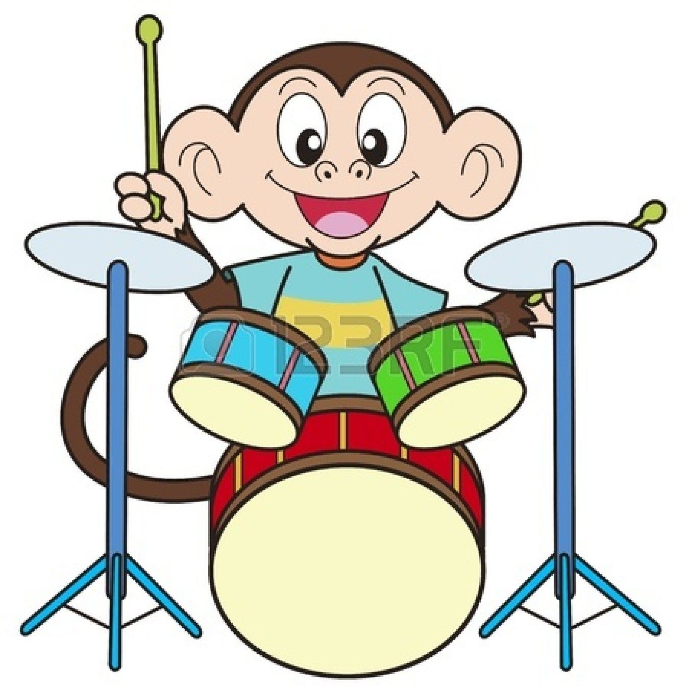 Playing Drums Clipart