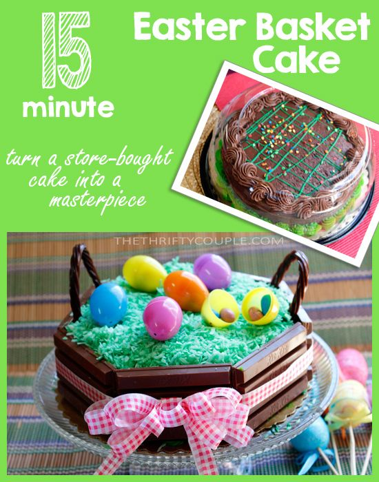 15 minute easter basket cake made with kitkat candy bars the easter basket cake made with kitkat candy bars love this easy and festive easter treat idea it takes easter baskets to a whole new level negle Gallery