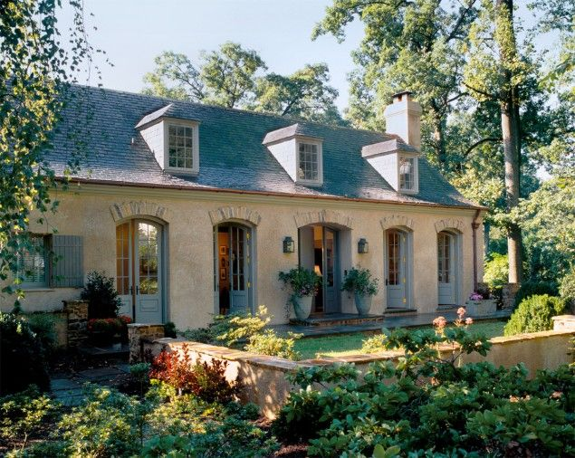 french country architecture with dormers this was a 1950s split rh pinterest com