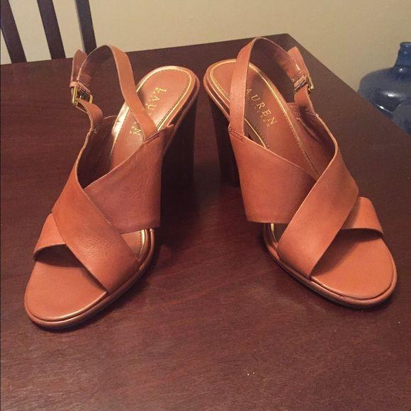 Ralph Lauren Leather sandals has a small scrap in front not notice. Ralph Lauren Shoes Sandals