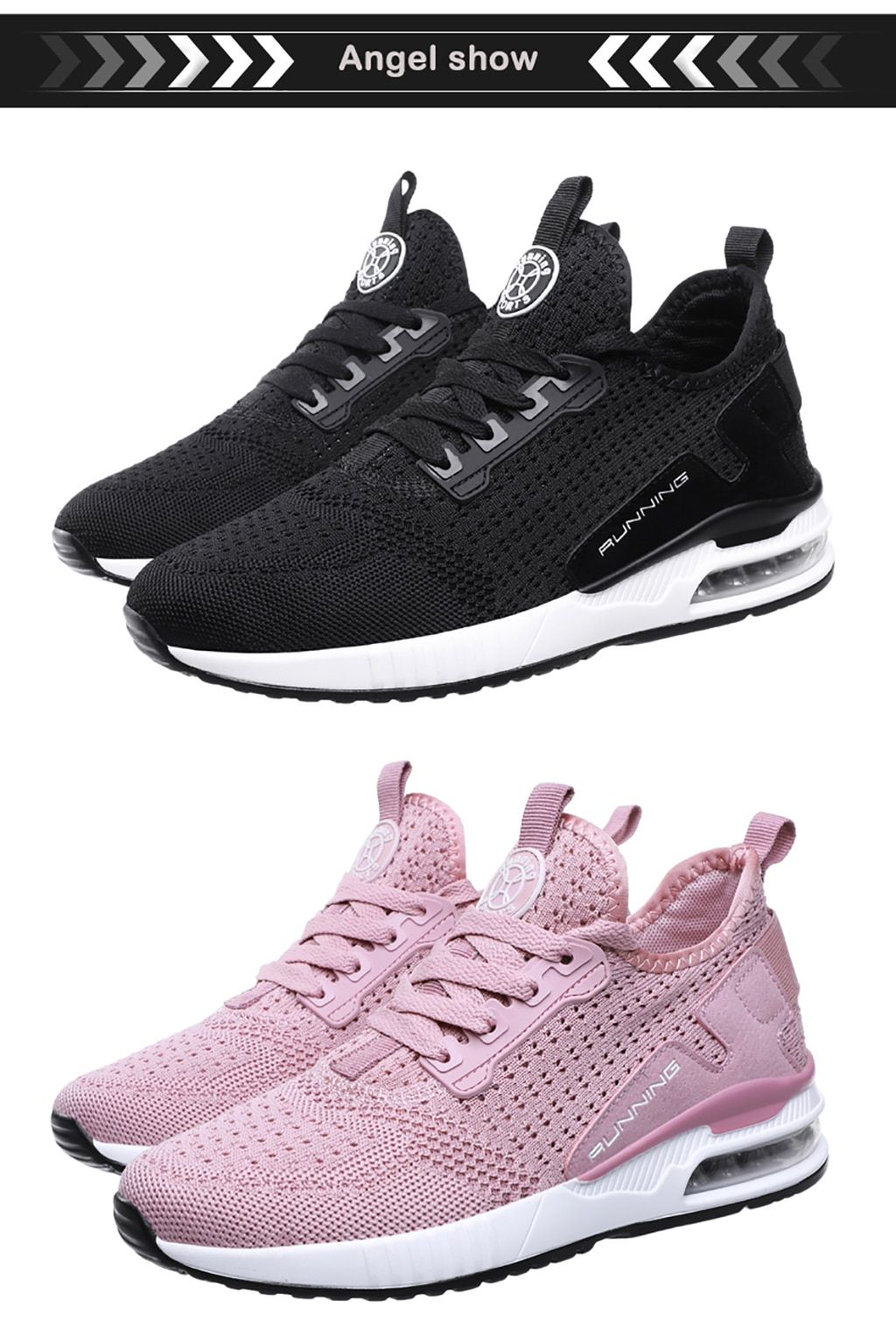 Couple Fly Weave AirCushion Casual Shoes in 2020 Casual