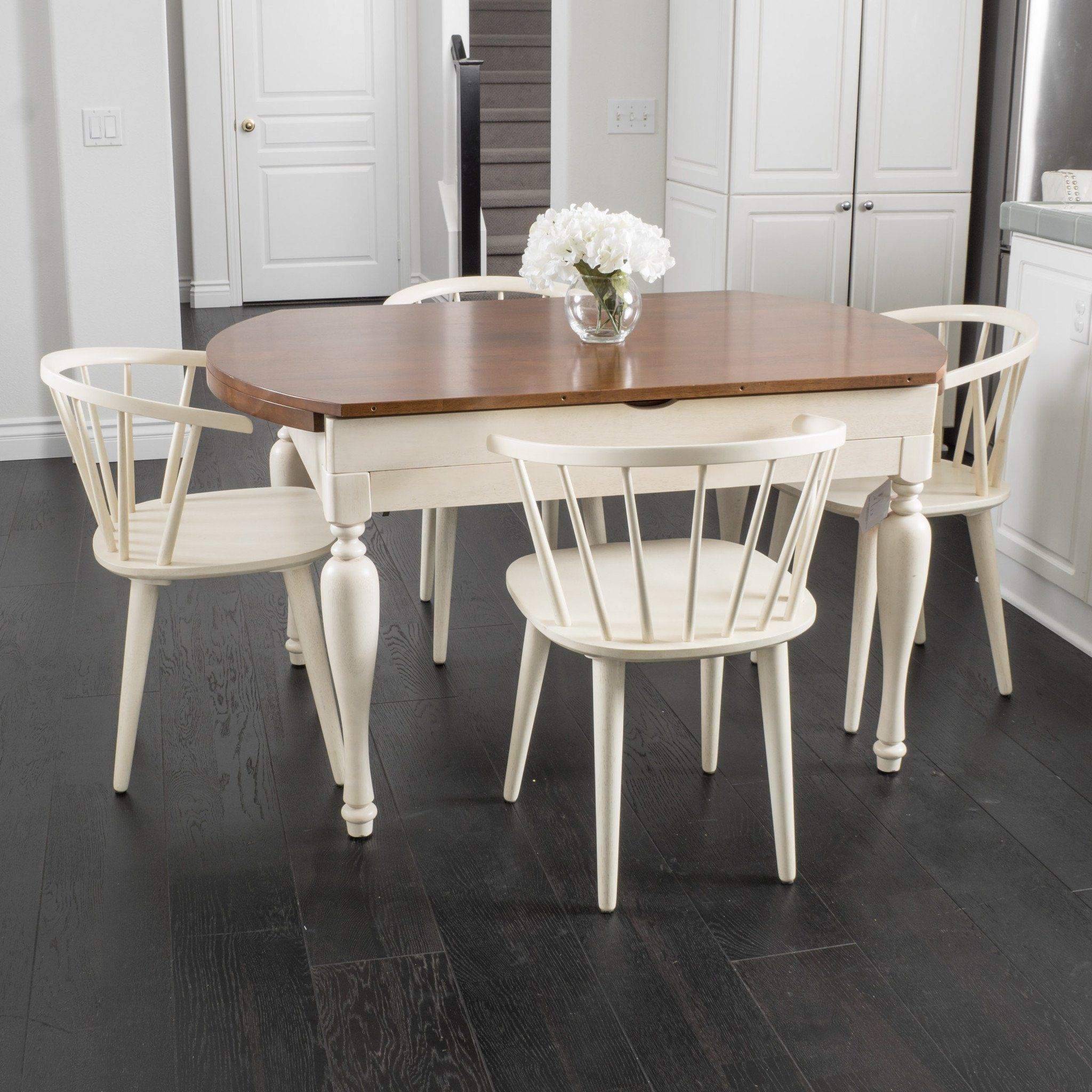 Ralph Spindle 5 piece Wood Dining Set with