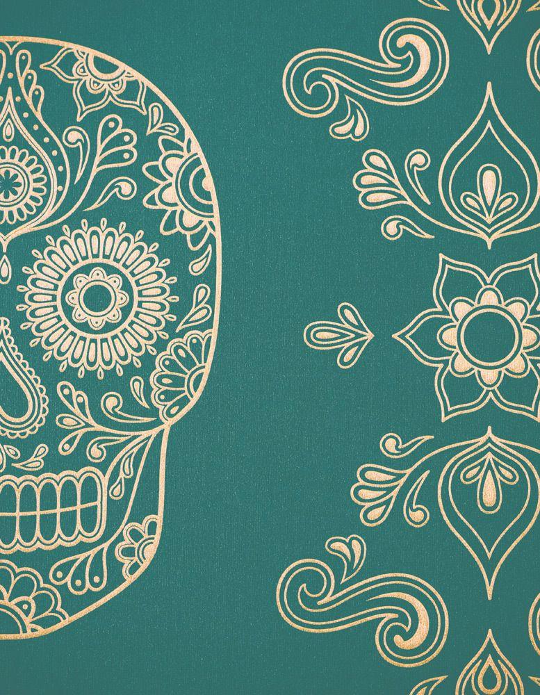 Image Of Day The Dead Sugar Skull Wallpaper