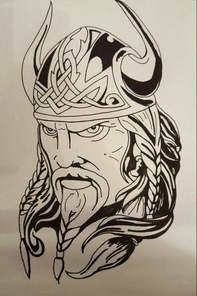 Ragnar Lodbrok Wikinger Tattoos Kopf Tattoo Wikinger Tattoo 5