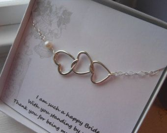 Maid Of Honor Gift Sterling Silver Bracelet Matron Heart
