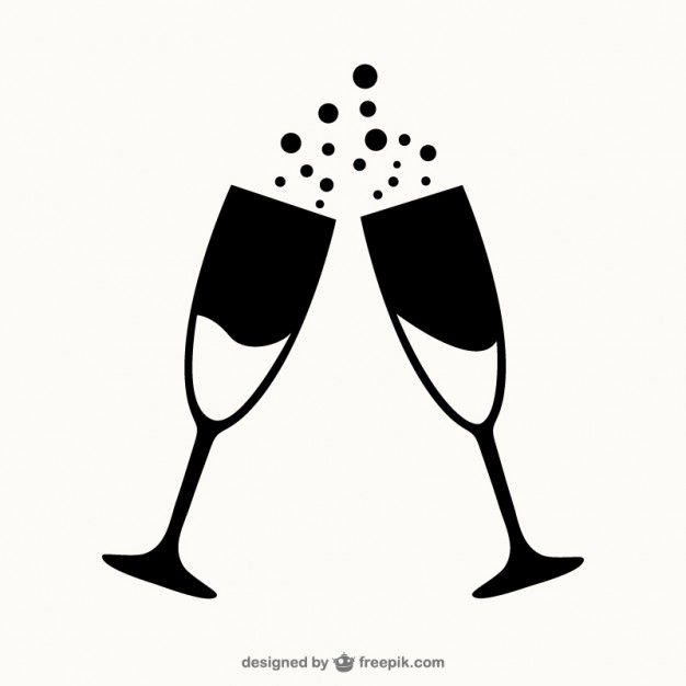 Glasses Of Champagne Outlines Premium Vector Freepik Vector Glasses Glass Champagne Engagement Mehndi Designs Cardboard Box Crafts Cricut Projects Vinyl