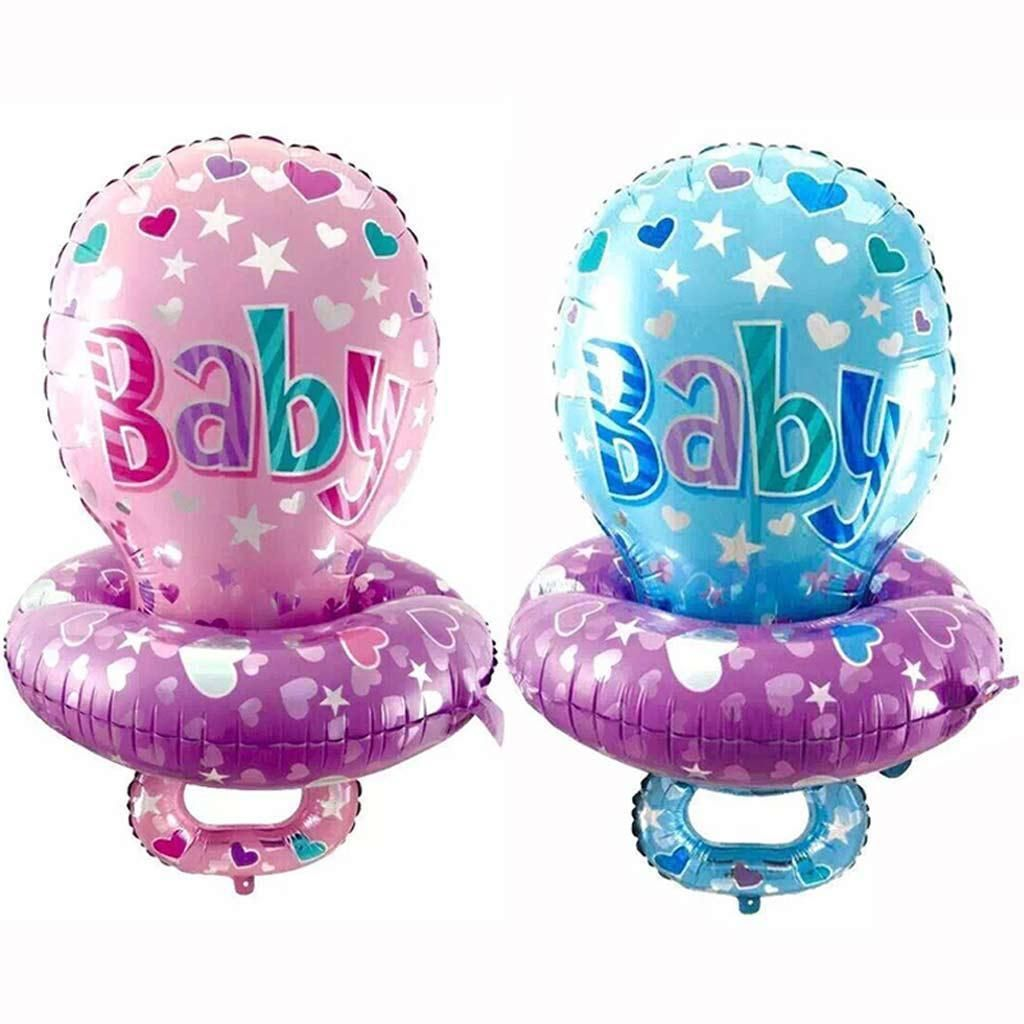 Newborn Baby Pacifier Foil Mylar Balloon Gender Reveal Baby Shower Baptism Decor