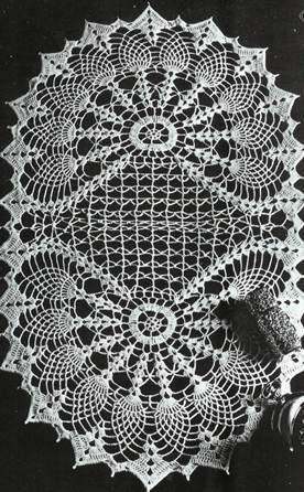 Oval Table Center Two Fans Crochet Patterns Crochet Doily