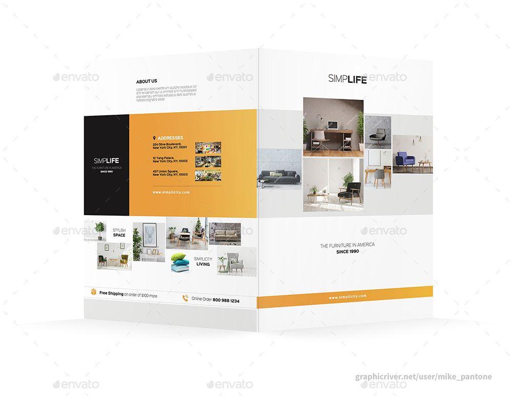 furniture store bifold halffold brochure 3 store furniture rh pinterest com