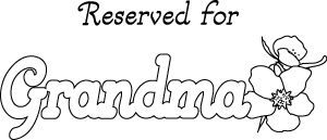 Reserved for Grandma printable placemat template, LeeHansen.com ...