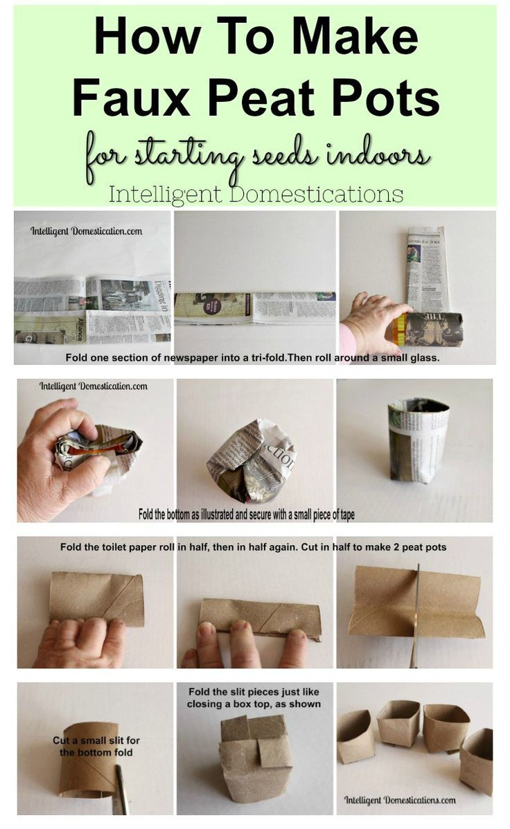 Diy Faux Peat Pots For Indoor Seed Starting Starting 400 x 300
