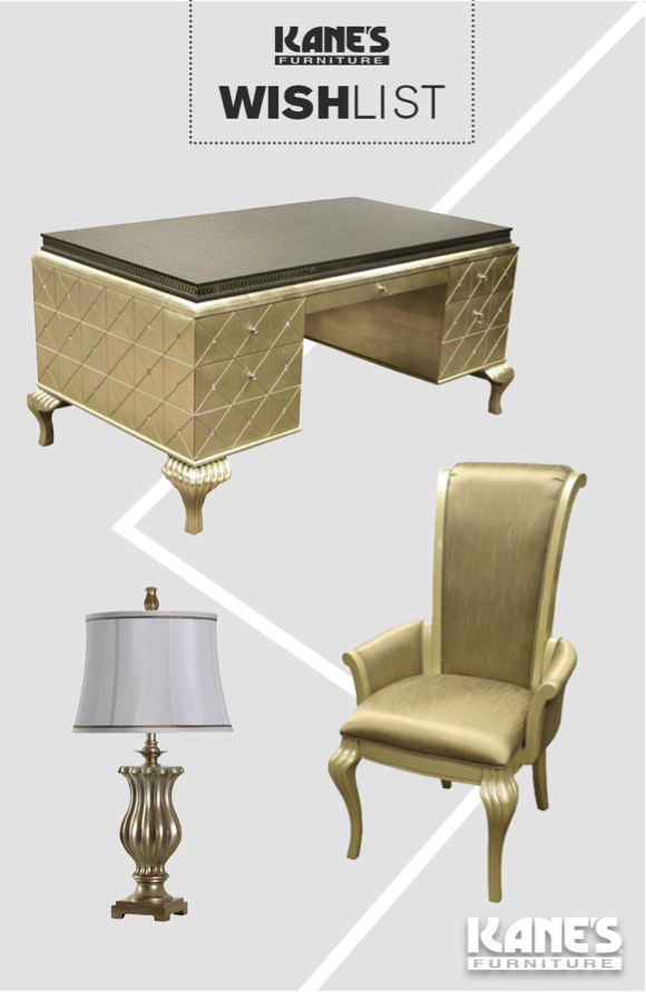 Your Desk Needs An Upgrade! The Hollywood Swank Executive Desk Would Make A  Great Addition