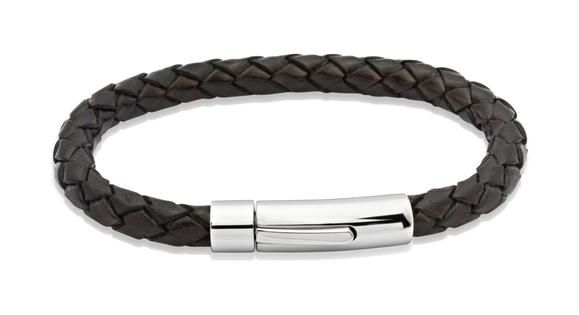 Mens-leather-bracelelt-in-Antique-Brown-from-Jools-Jewellery