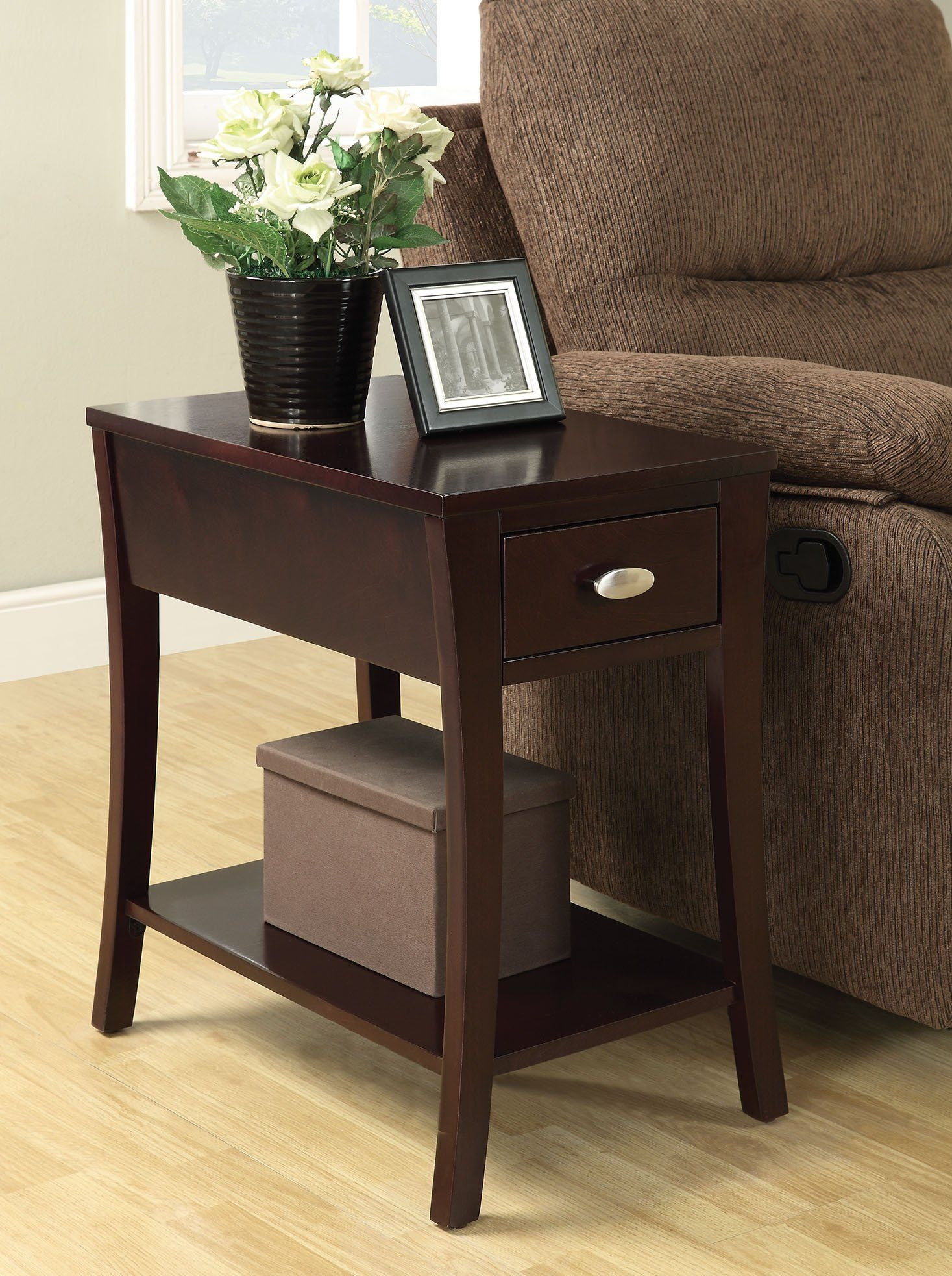 acme mansa espresso side table with drawer shelf in 2019 products rh pinterest com