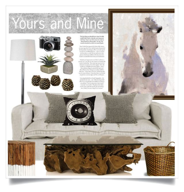 """Yours and Mine"" by retrocat1 ❤ liked on Polyvore featuring interior, interiors, interior design, home, home decor, interior decorating, Art Classics LTD, Dot & Bo and Fuji"