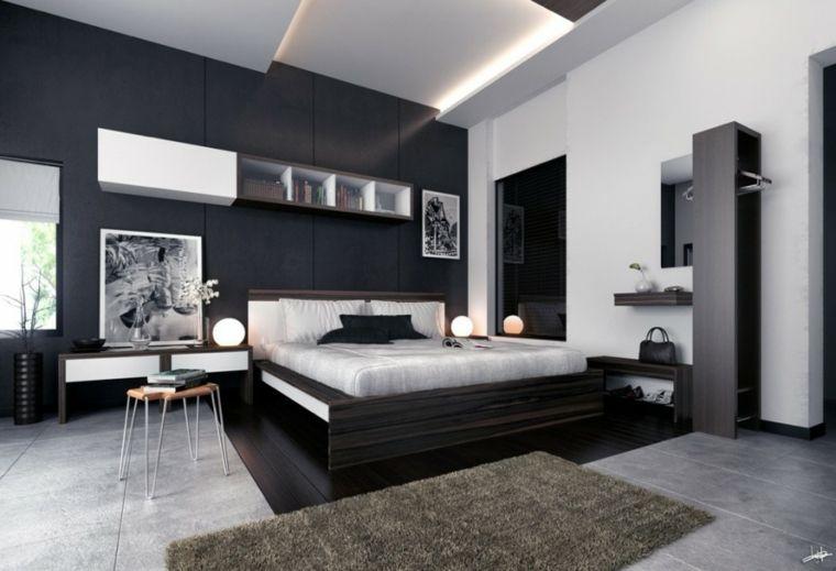 Deco Noir Et Blanc Chambre A Coucher 25 Exemples Elegants Schlafzimmer Design Schlafzimmerfarbe Luxusschlafzimmer
